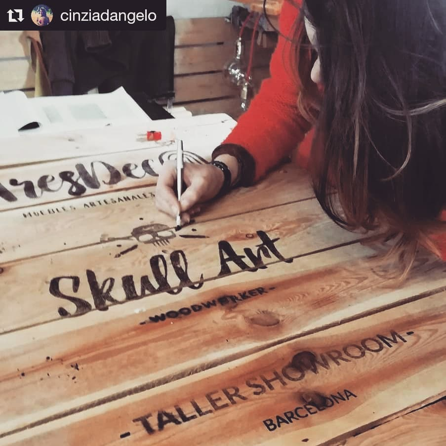 making name plate of pallet
