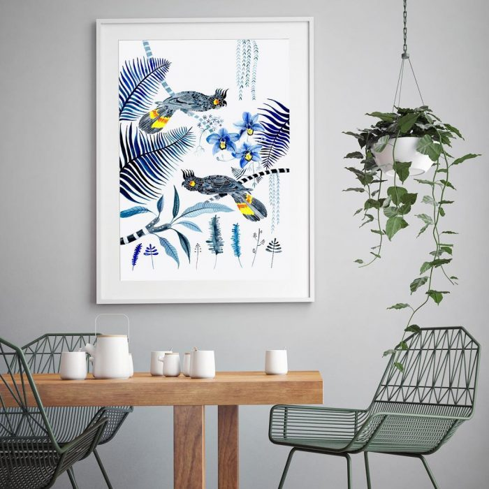 Black cockatoo | Wall Decor Ideas
