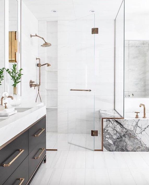 BRASSY overtones Bathroom Remodel Ideas