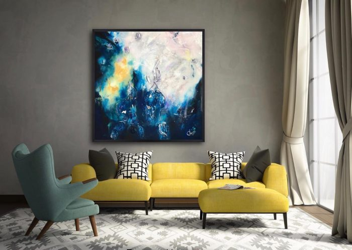 Marry blue mustard yellow | Wall Decor Ideas