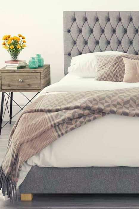 UK made Ottomans Mind Blowing Dreamy DIY Headboard Ideas