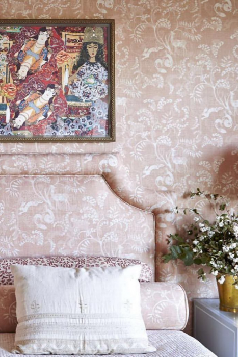 Fabric and wallpaper Mind Blowing Dreamy DIY Headboard Ideas